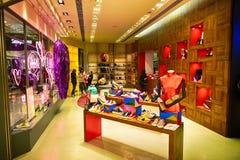 香港购物中心内部 库存图片