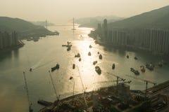 香港水视图 免版税库存照片