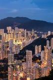 香港` s夜生活美好的大气  免版税库存图片