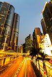 香港bussines中心。 库存照片