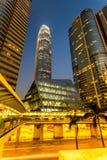 香港bussines中心。 免版税库存照片
