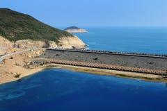 香港Geo公园,高海岛水库 库存照片