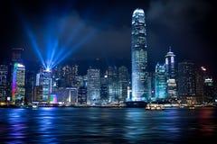 香港Lightshow 库存照片