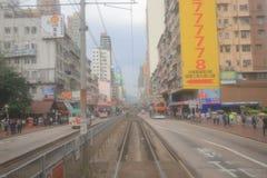 香港MTR光路轨 Siu洪区 库存照片