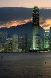 香港nightscenes 库存照片