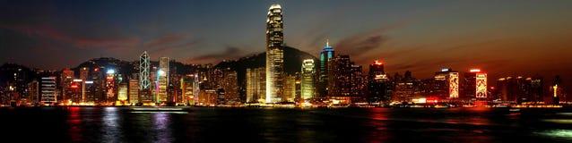 香港nightscenes 免版税库存照片