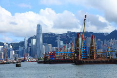 香港s地平线 库存照片