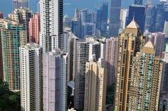 香港Skyscparers  库存照片