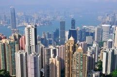 香港skyscparers 免版税库存照片