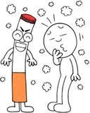 香烟制造咳嗽 图库摄影