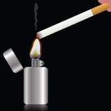 香烟和打火机 免版税库存图片