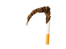 香烟和烟草做的死亡大镰刀 免版税库存图片