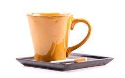 香烟咖啡配对 免版税库存照片