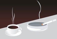 香烟咖啡 免版税库存图片