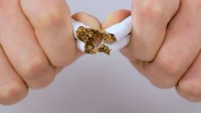香烟断裂在她的手上 股票录像