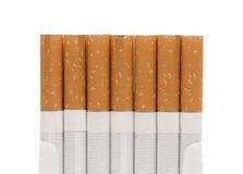 香烟特写镜头过滤了开放装箱 库存图片