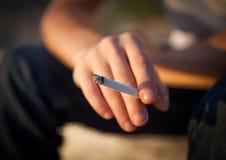 香烟现有量查出的照片 图库摄影