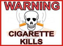 香烟警告 库存照片