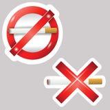 香烟贴纸 库存例证