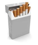 香烟组装(包括的裁减路线) 库存图片
