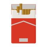 香烟组装 平的设计 免版税库存图片