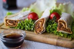 香烟kofte硬粒小麦/Shawarma/土耳其食物 库存照片