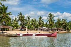 香的传统渔村是海岛,马达加斯加 库存照片