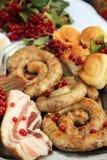 香肠和油脂 免版税库存照片