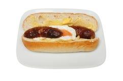 香肠和蛋三明治 免版税库存照片