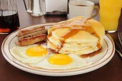 香肠和鸡蛋 免版税库存图片