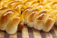 香肠面包 免版税库存图片