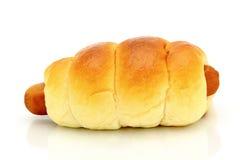 香肠面包 免版税库存照片