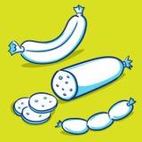 香肠-蓝色系列 库存图片