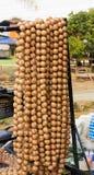 香肠easts,街道食物,曼谷,泰国 免版税库存照片