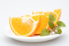 香脂橙色牌照切了三 库存图片