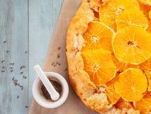 香芹籽和橙色馅饼 库存图片
