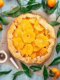 香芹籽和橙色馅饼 免版税库存图片