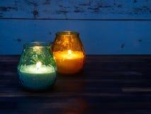 香茅油蜡烛 免版税库存照片