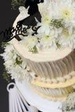 香草优质蛋糕-第2层& x28; 边View& x29; 库存图片