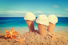 香草冰淇凌 库存图片