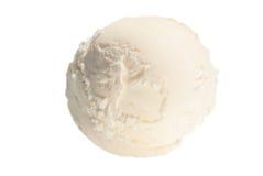 香草冰淇淋一个球  免版税库存图片