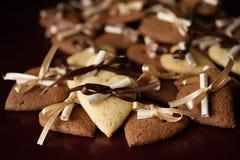 香草和巧克力曲奇饼 免版税库存照片