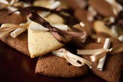 香草和巧克力曲奇饼 免版税库存图片