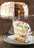 香草洒蛋糕 库存照片