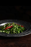 香菜和辣椒 免版税库存图片