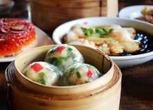香葱水晶饺子 库存图片