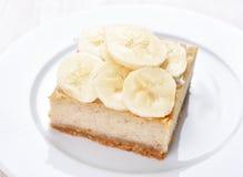 香蕉乳酪蛋糕 库存图片
