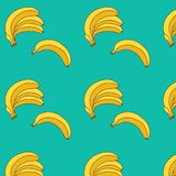 香蕉传染媒介例证 无缝的模式 向量例证