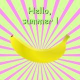 香蕉光芒 库存照片