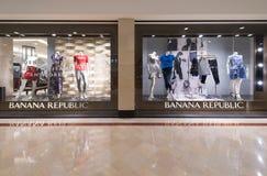 香蕉共和国商店在Suria KLCC,吉隆坡 库存图片